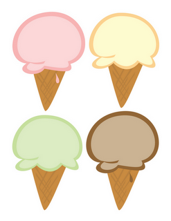 Ice cream banner clipart picture free Free ice cream cone cutouts. Great for invites, banner, or ... picture free