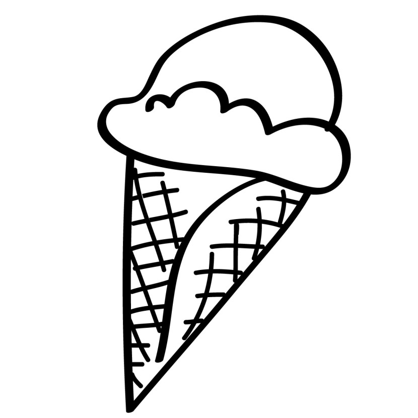 Ice cream cone clipart black and white banner freeuse library Clip art ice cream cones and on – Gclipart.com banner freeuse library
