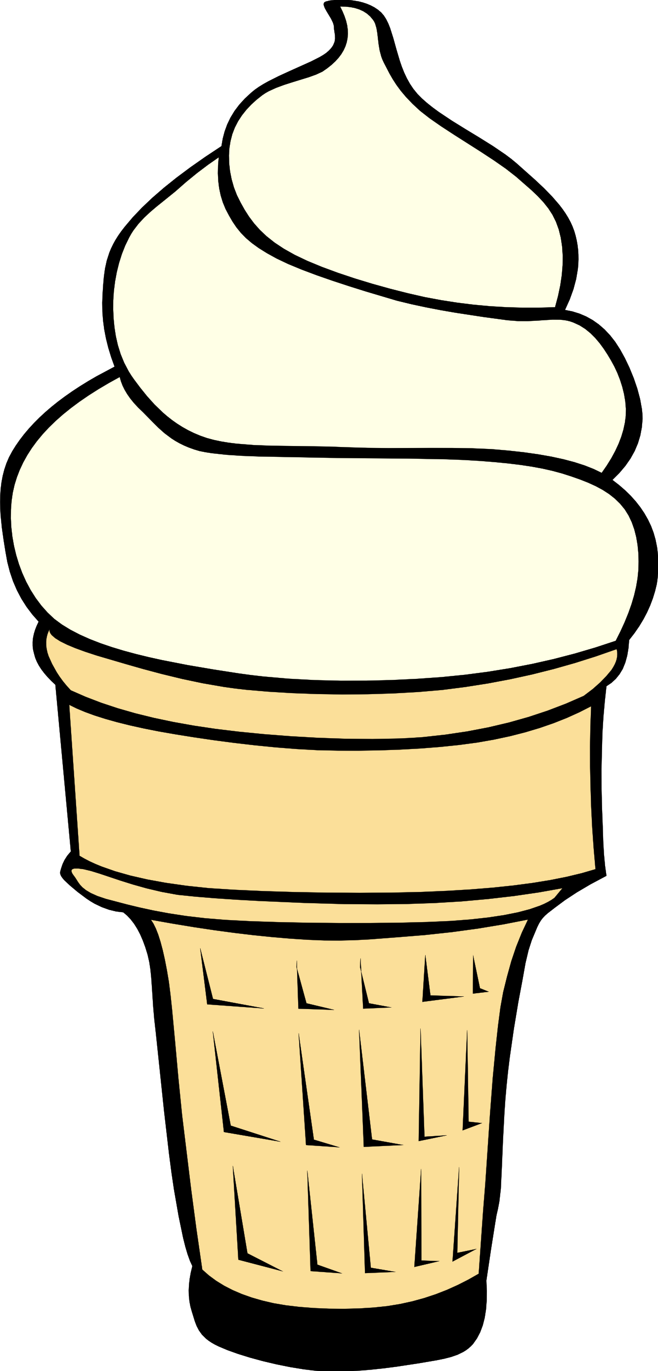 Ice cream cone without ice cream clipart banner black and white library Free Images Of Ice Cream Cones, Download Free Clip Art, Free ... banner black and white library