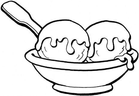 Ice cream sundae bowl clipart black and white clipart black and white Best Ice Cream Cup Clipart #29411 - Clipartion.com clipart black and white