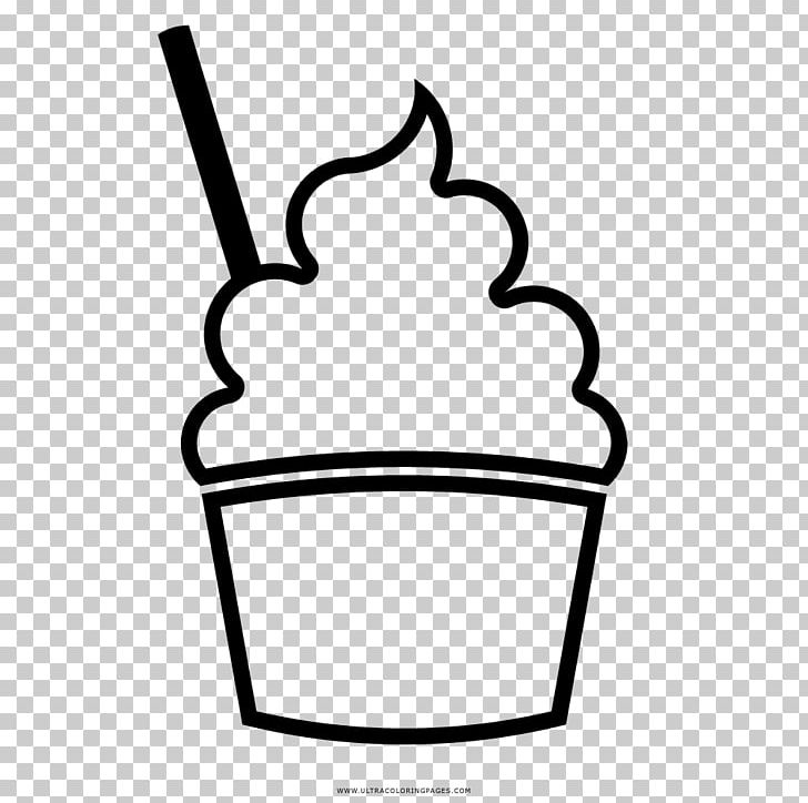Ice cream cup clipart black and white png library Ice Cream Sundae Drawing Cup Milkshake PNG, Clipart, Area ... png library