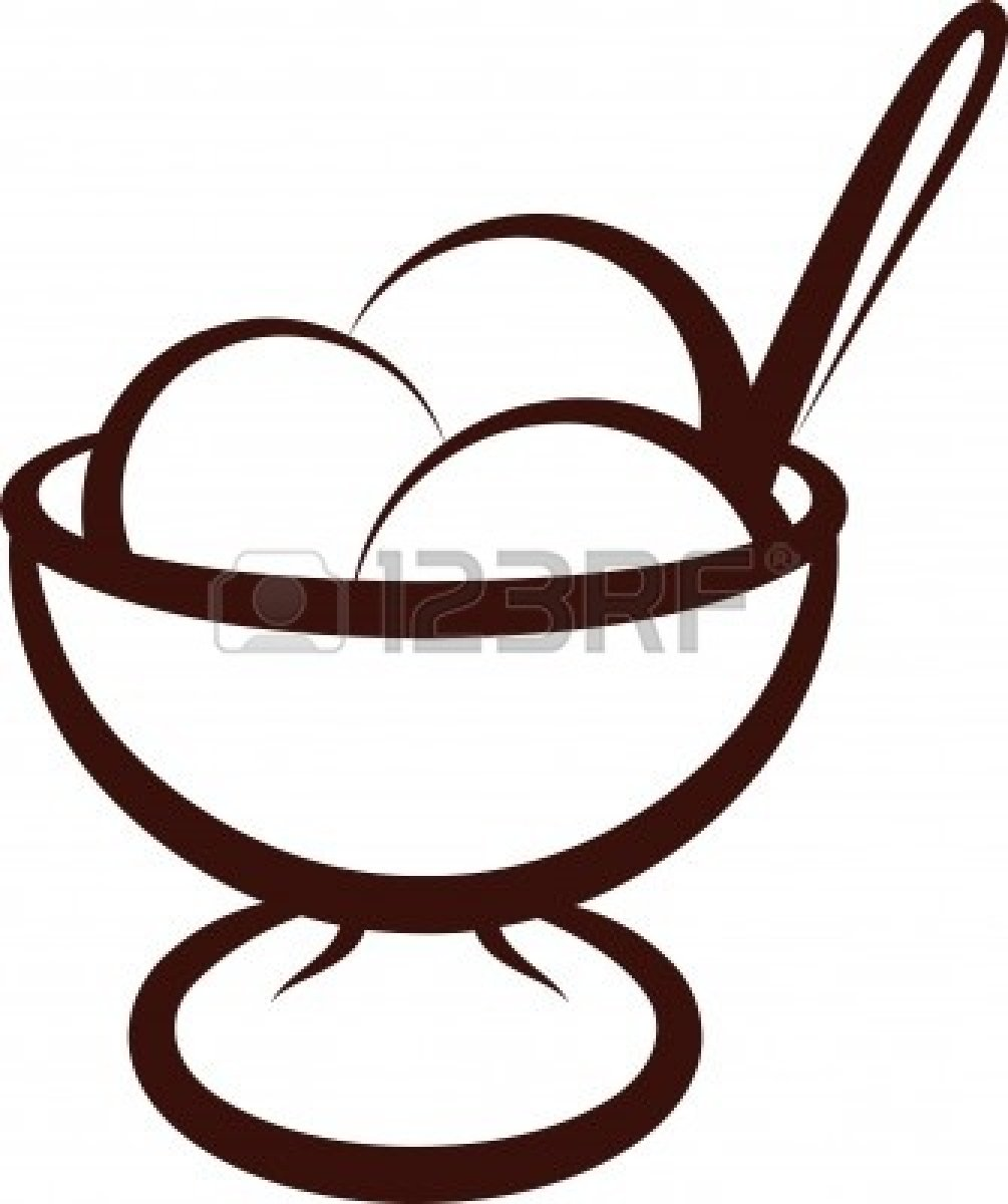 Ice cream cup clipart black and white graphic free library Ice Cream Cup Black And White Panda Free clipart free image graphic free library