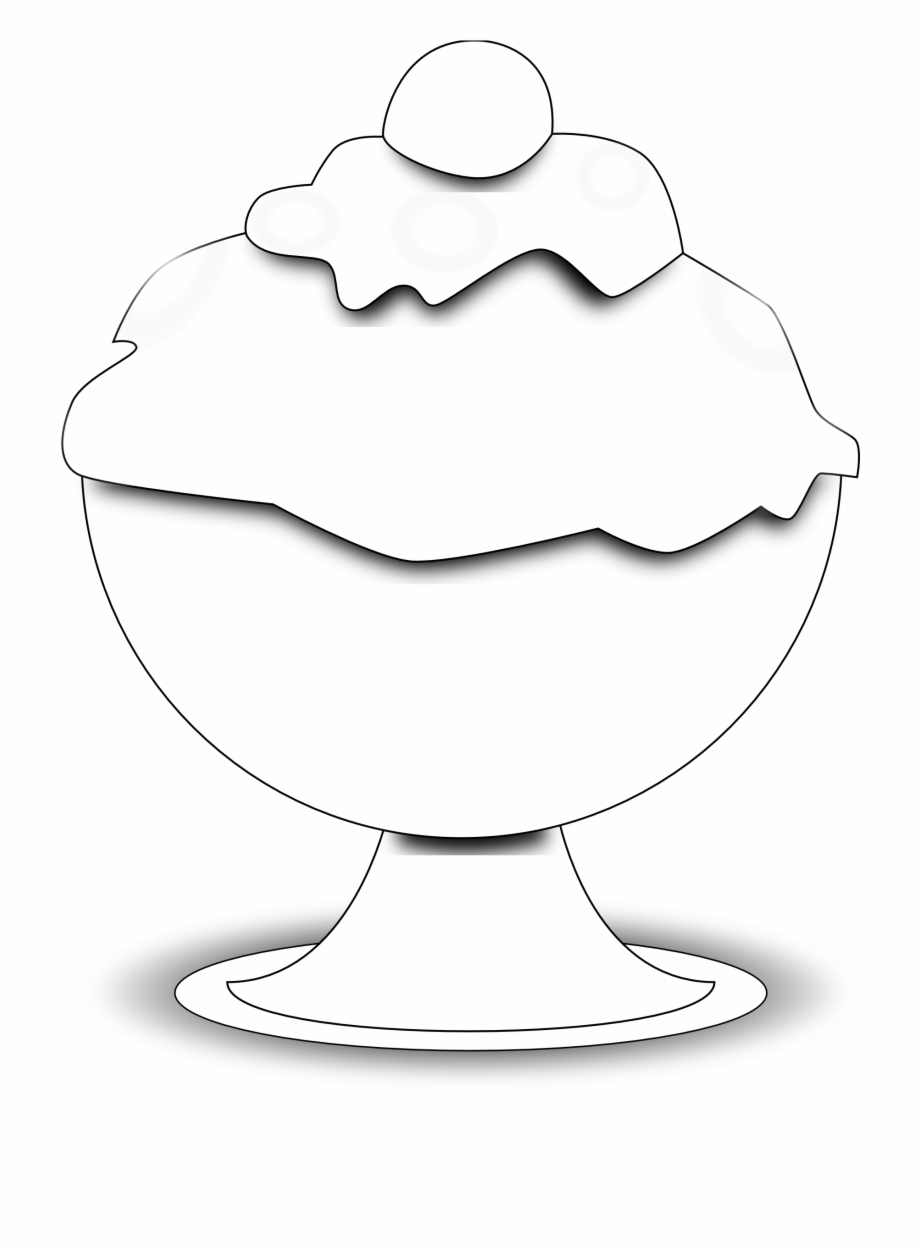 Ice cream cup clipart black and white png freeuse library Food Ice Cream Black White Clipart Panda - Black And White ... png freeuse library