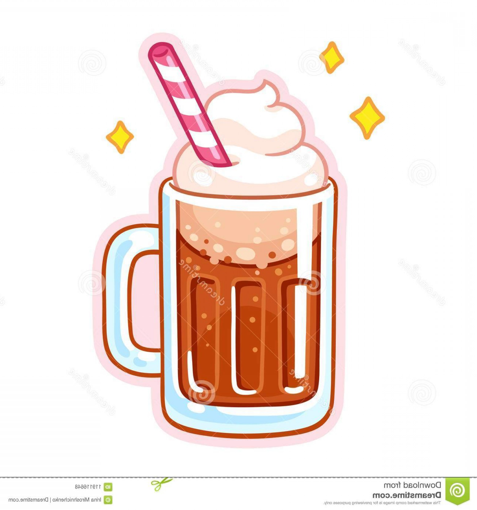 Ice cream float root beer float clipart picture library stock Cute Cartoon Root Beer Float Illustration Mug Root Beer Ice ... picture library stock