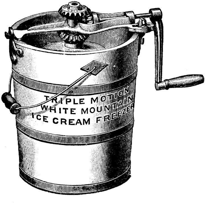 Ice cream in bucket clipart jpg black and white download Ice cream maker clipart 1 » Clipart Portal jpg black and white download