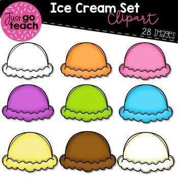 Ice cream scoops clipart clip library stock Ice Cream Scoops {Clipart} clip library stock