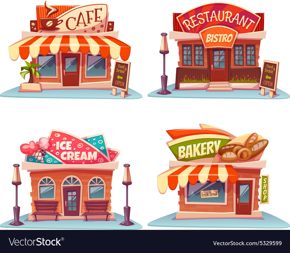Ice cream shop clipart black and white download Cafe restaurant ice-cream shop and bakery black and white download