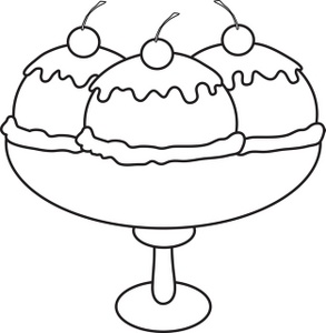 Ice cream sundaes black and white clipart vector transparent library Ice cream sundae ice cream clipart image sundae clipart ... vector transparent library