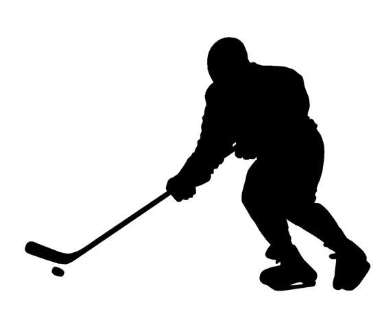 Ice hockey girl player all black clipart picture Hockey Player Silhouette Clipart   Free download best Hockey ... picture