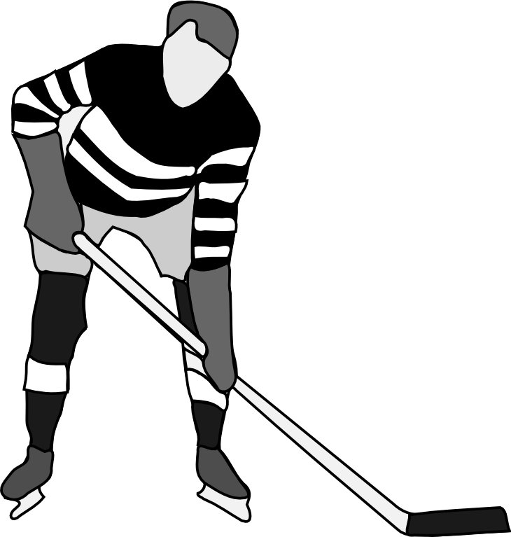 Ice hockey girl player all black clipart clip art royalty free library Hockey Player Drawing   Free download best Hockey Player ... clip art royalty free library