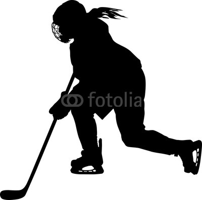 Ice hockey girl player all black clipart graphic black and white stock Female hockey player skating with stick   Buy Photos   AP ... graphic black and white stock