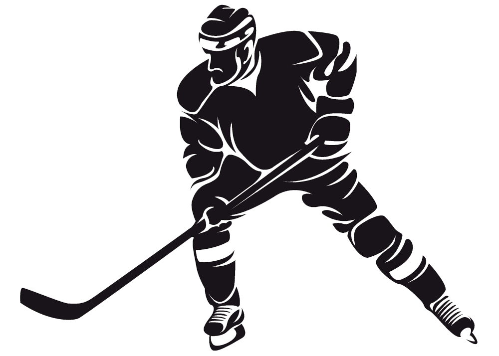 Ice hockey girl player all black clipart vector black and white stock Ice hockey Clip art - Hockey player png download - 1000*714 ... vector black and white stock