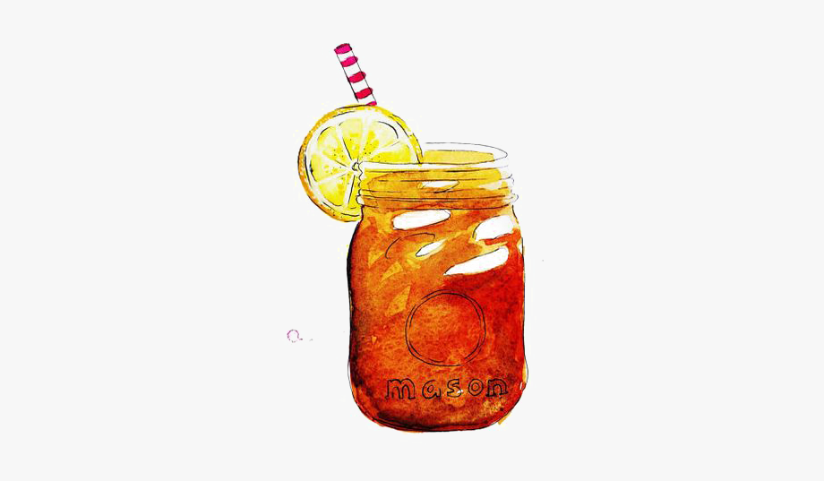 Iced tea clipart vector royalty free Drink Drawing Iced Tea - Mason Jar With Sweet Tea #1835042 ... vector royalty free