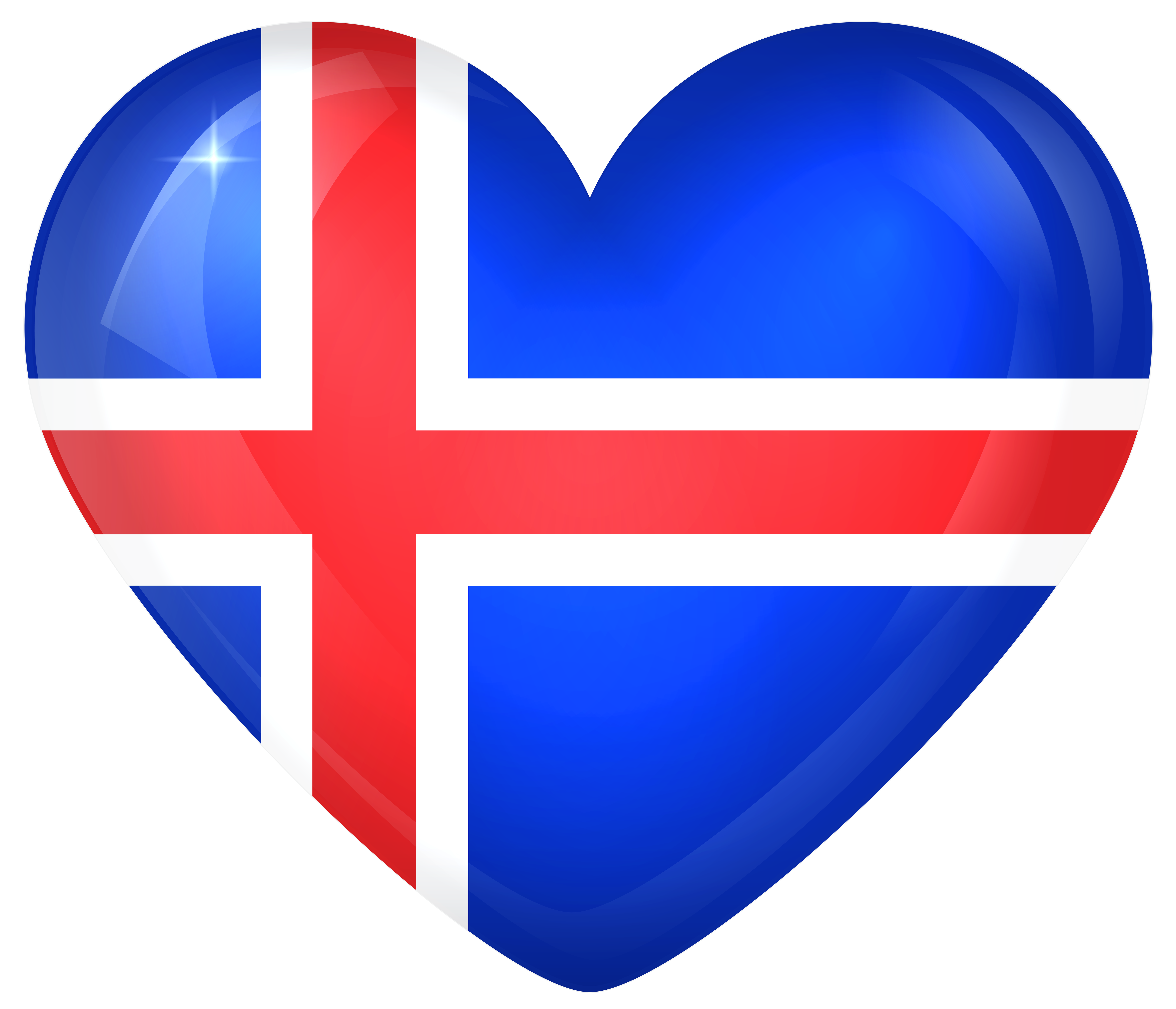 Icelandic clipart jpg transparent stock Iceland Large Heart Flag | Gallery Yopriceville - High ... jpg transparent stock