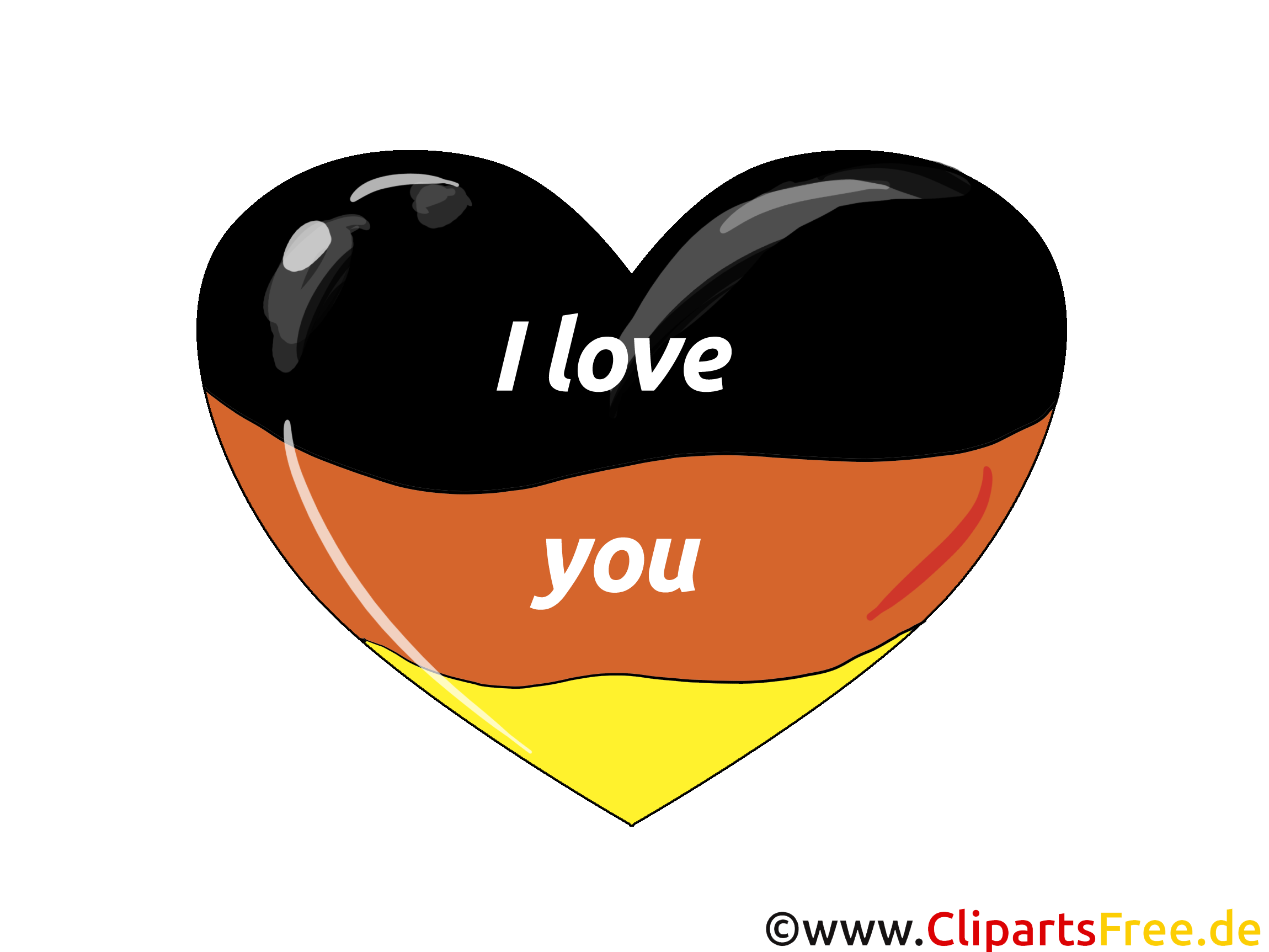 Ich clipart image black and white library Ich Liebe Deutschland Clip Art – Clipart Free Download image black and white library