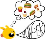 Ich habe hunger clipart vector transparent Hab Hunger Muss Essen vector transparent