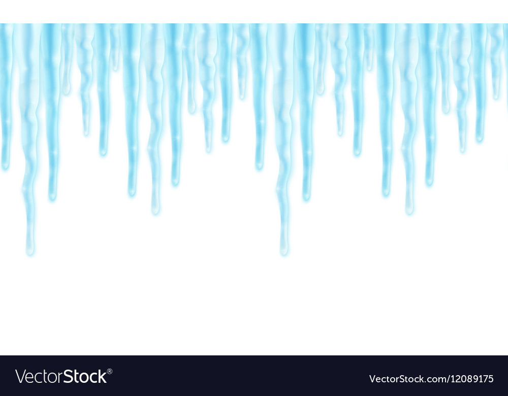 Ice border clipart clipart black and white stock Seamles border with icicles vector image clipart black and white stock