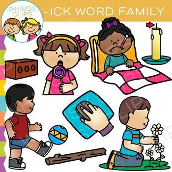 Ick clipart transparent download Short Vowel Word Family Clip Art - ICK Words   Vowel Clip ... transparent download