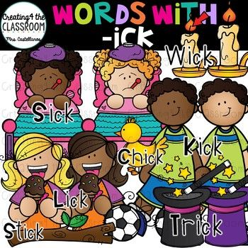 Ick clipart clip art freeuse download Words with -ick {Word Family Clip Art} | *Phonics Clipart ... clip art freeuse download