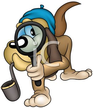 Iclipart search transparent Cartoon Hound Dog Private Detective Searching for Clues - Royalty ... transparent