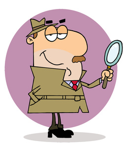 Iclipart search picture freeuse Search Clipart Image - Police Undercover Detective Searching for Clues picture freeuse