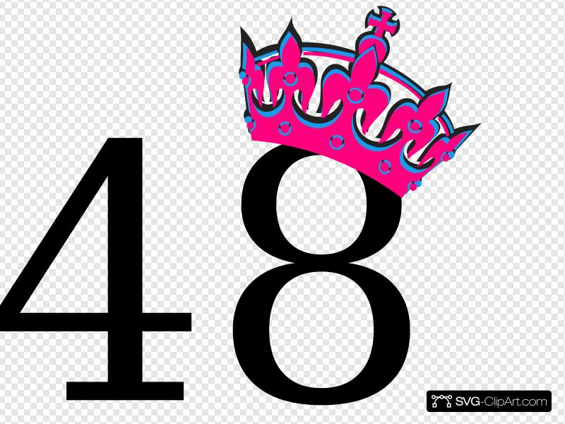 Icon 48 clipart free Pink Tilted Tiara And Number 48 Clip art, Icon and SVG - SVG ... free