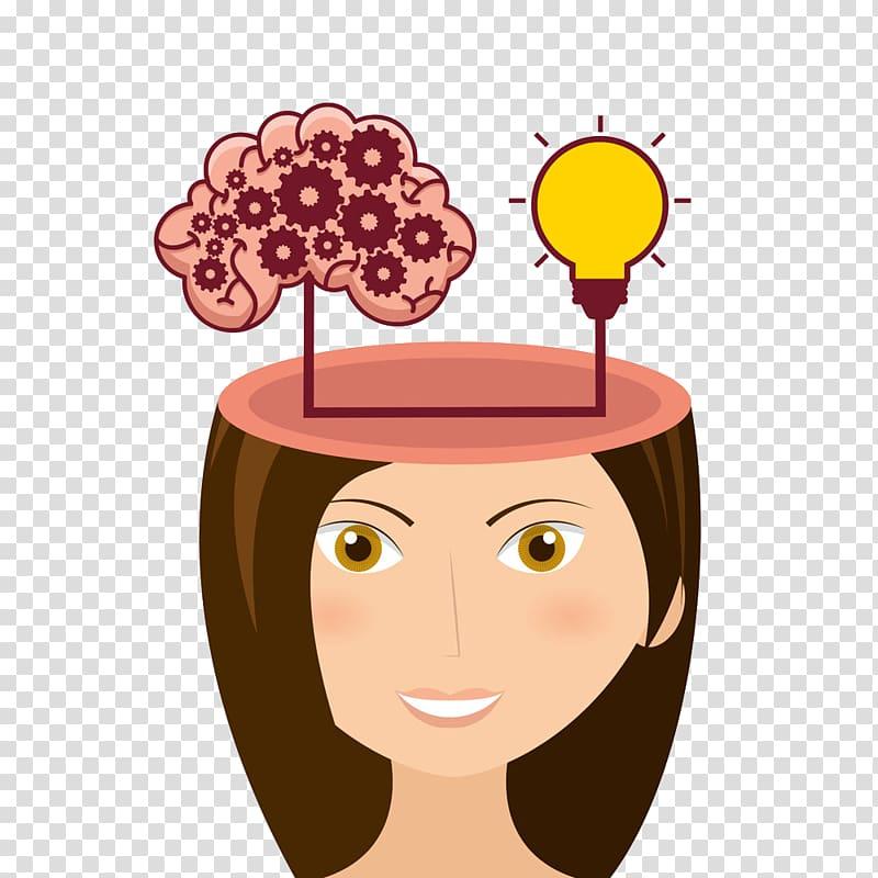 Icon cartoon clipart graphic royalty free library Brain Cerebrum Icon, Cartoon beauty brain thinking ... graphic royalty free library