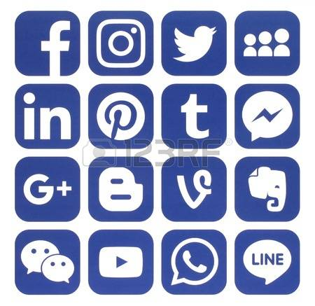 Icon clipart facebook and instagram banner freeuse download Facebook Whatsapp Instagram Stock Photos & Pictures. Royalty Free ... banner freeuse download