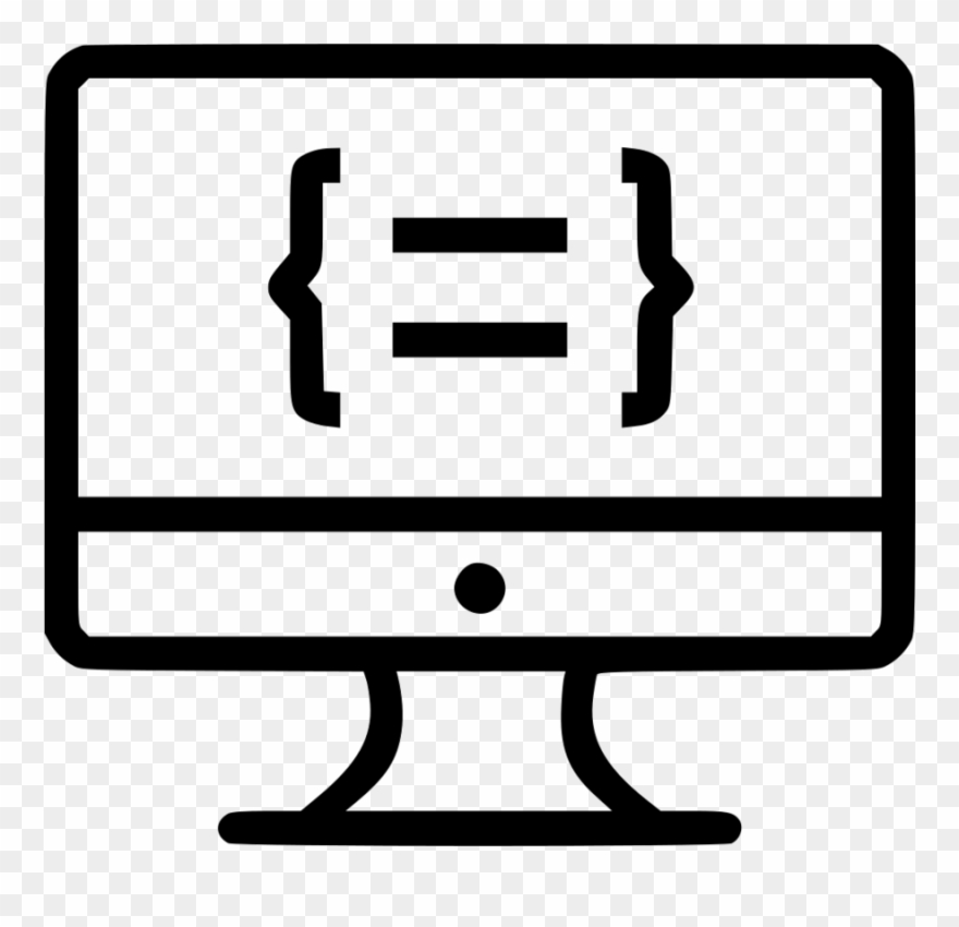 Programinig clipart graphic black and white library Coding Icon Clipart Computer Icons Computer Programming ... graphic black and white library
