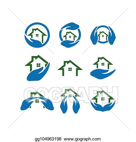 Icon template clipart png transparent stock EPS Illustration - Home care logo icon template. Vector ... png transparent stock
