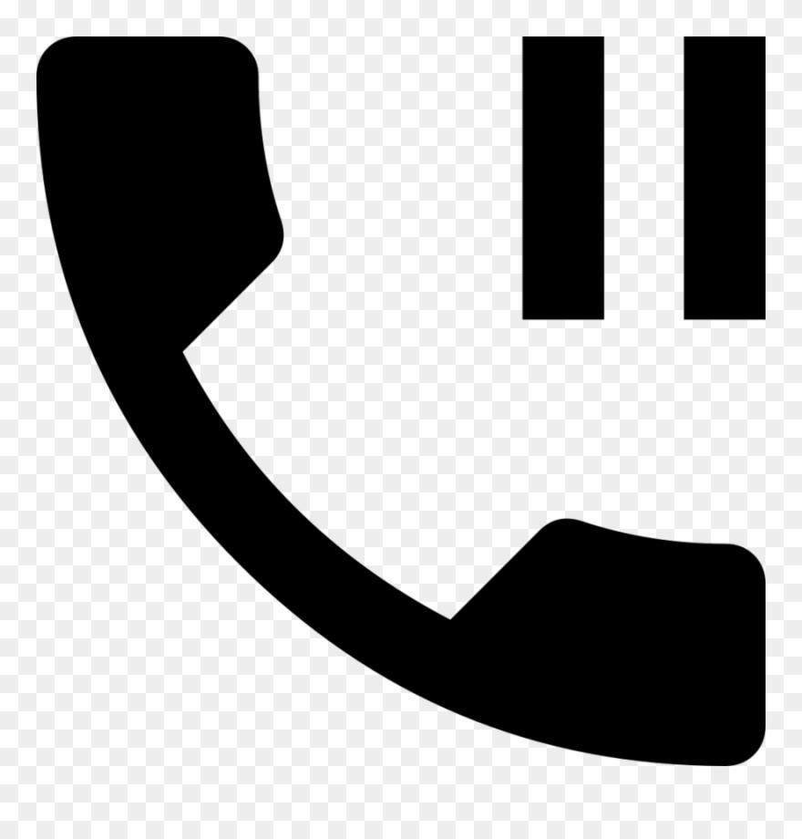 Icono telefono clipart clip black and white stock Download Icono Telefono Pausa Clipart Computer Icons - Telephone On ... clip black and white stock