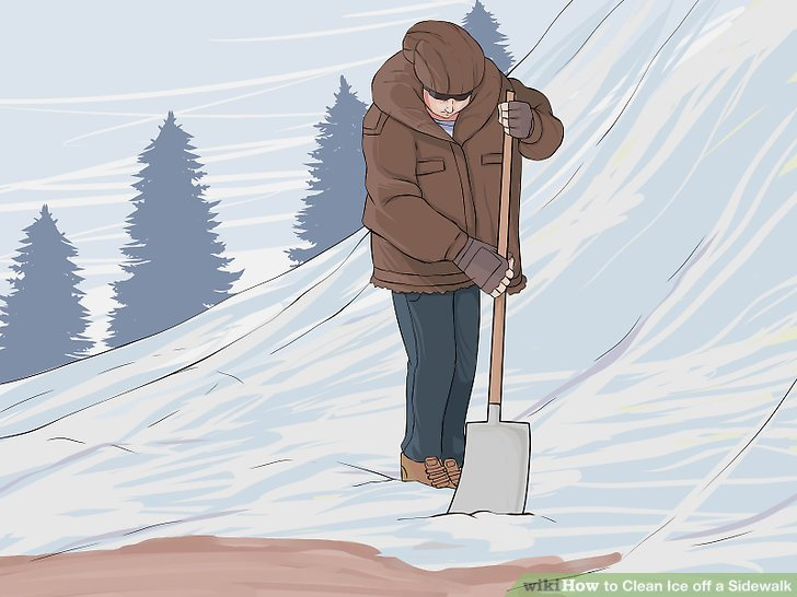 Icy sidewalk clipart image black and white library 3 Ways to Clean Ice off a Sidewalk - wikiHow image black and white library