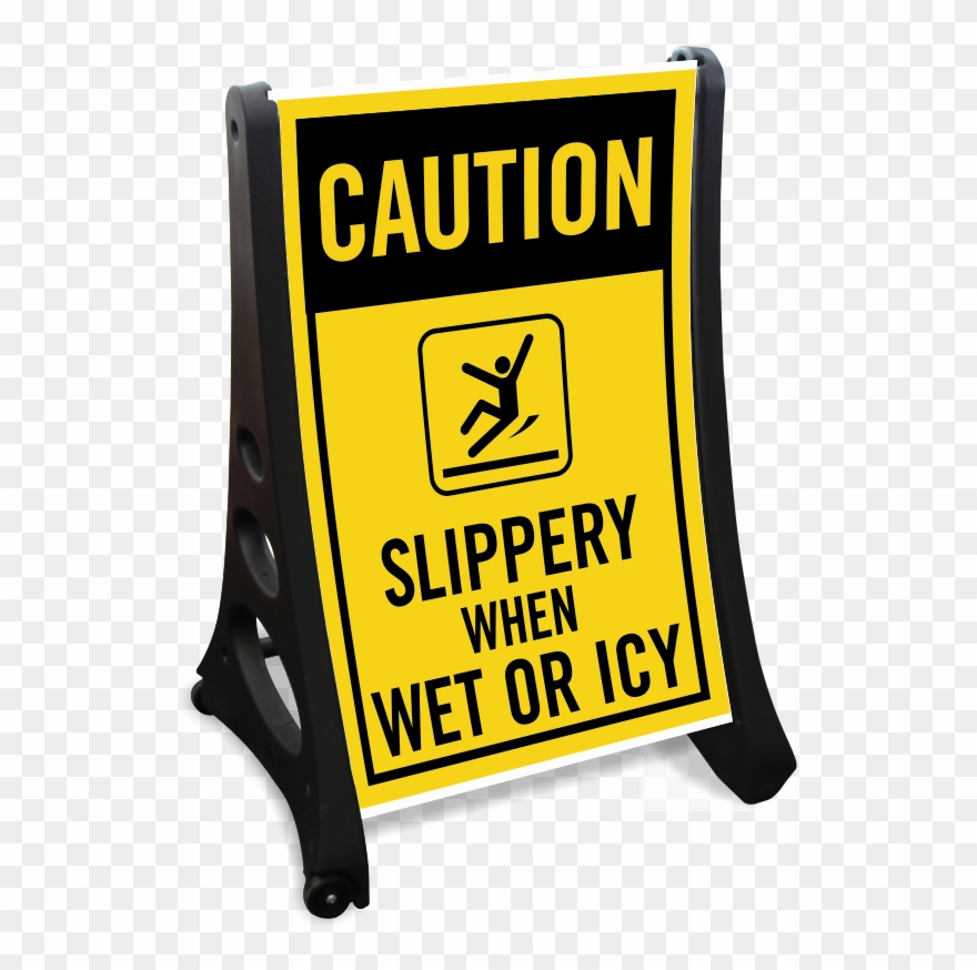 Icy sidewalk clipart jpg black and white library Slippery When Wet Or Icy Sidewalk Sign Kit Clipart (#3105484 ... jpg black and white library