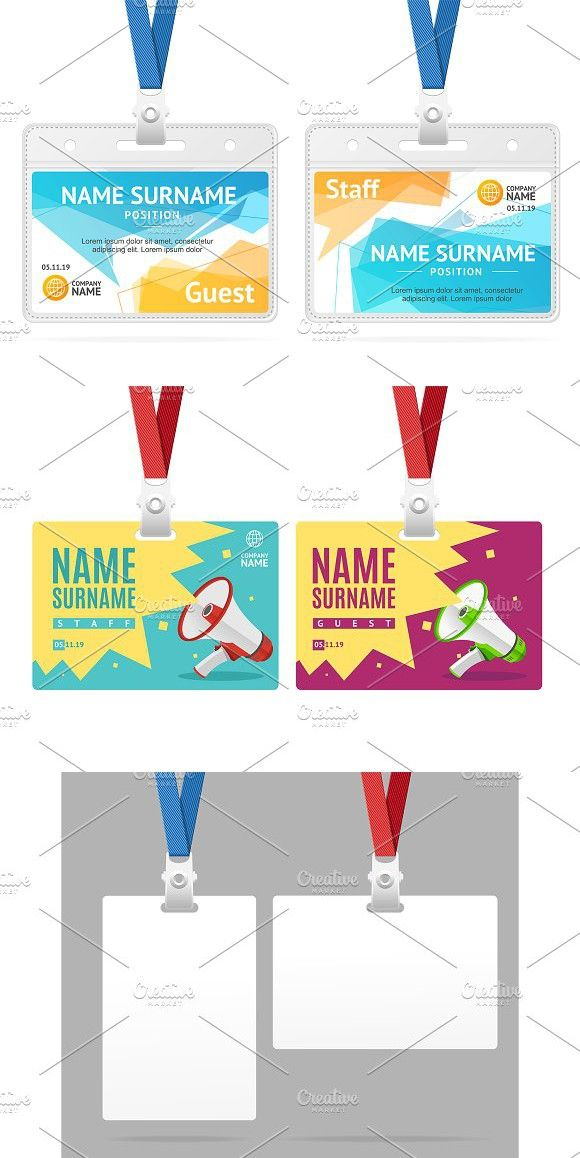Id card template clipart image library library Id Card Template Plastic Badge | Tag Design | Id card template ... image library library