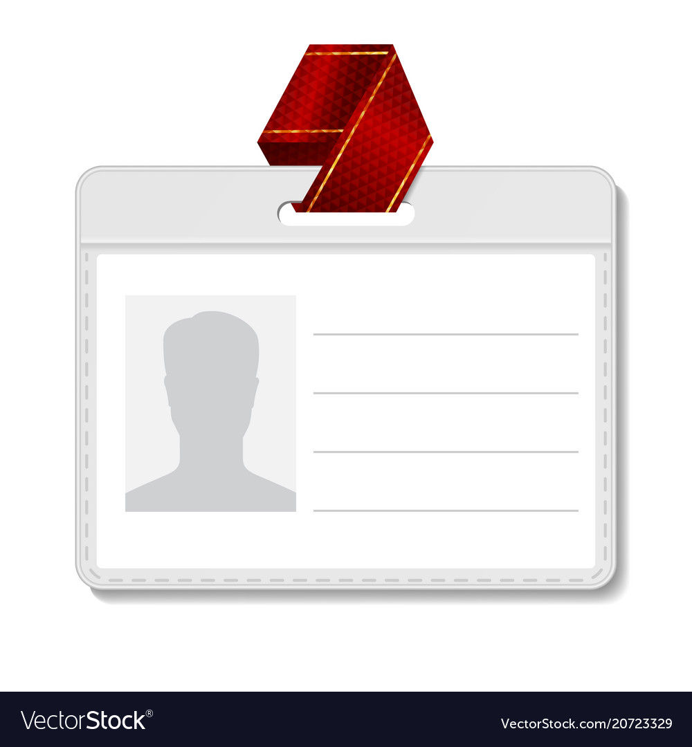 Id card template clipart banner freeuse library Identification badge id card blank name banner freeuse library