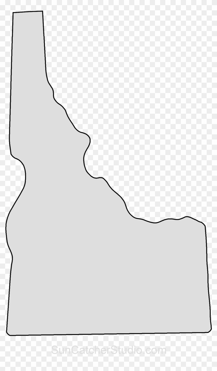 Idaho state clipart graphic free library Printable Shape Of Texas From Printabletreats - Idaho State Outline ... graphic free library