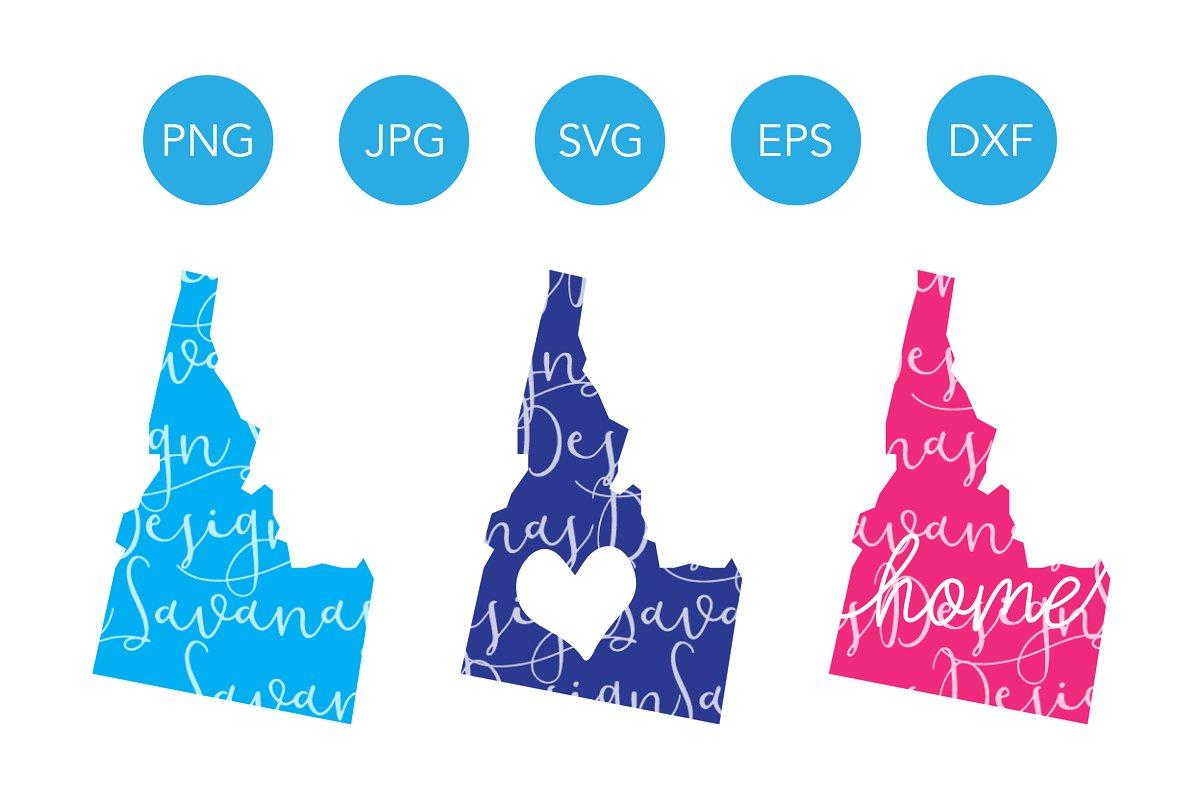 Idaho state clipart png royalty free Idaho SVG Cut Files and Clipart png royalty free