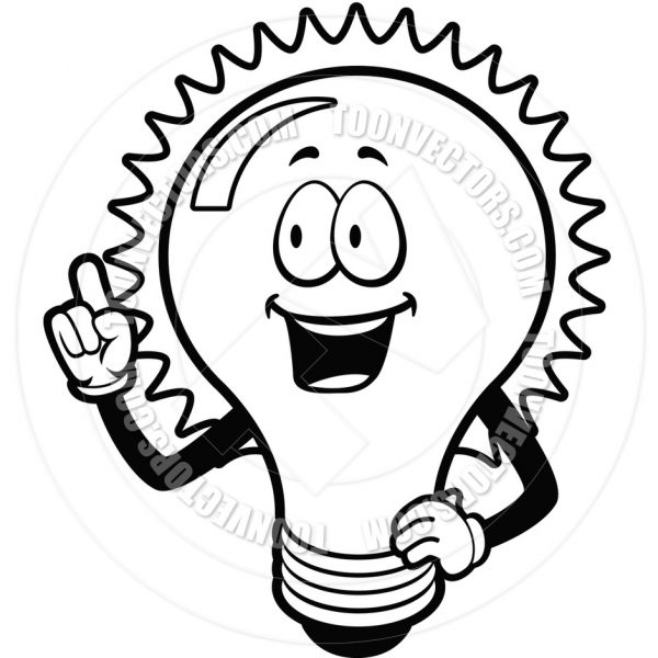 Light bulb black and white clipart free clipart black and white stock Idea Light Bulb Clip Art Black And White   Clipart Panda – Free in ... clipart black and white stock