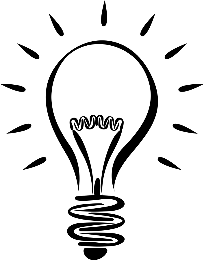 Light bulb black and white clipart free vector library stock Free Idea Clipart Black And White, Download Free Clip Art, Free Clip ... vector library stock