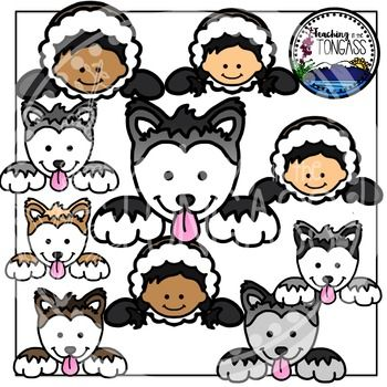Iditarod clipart picture transparent download Iditarod Page Toppers Clipart Bundle | Social Studies | Clip art ... picture transparent download