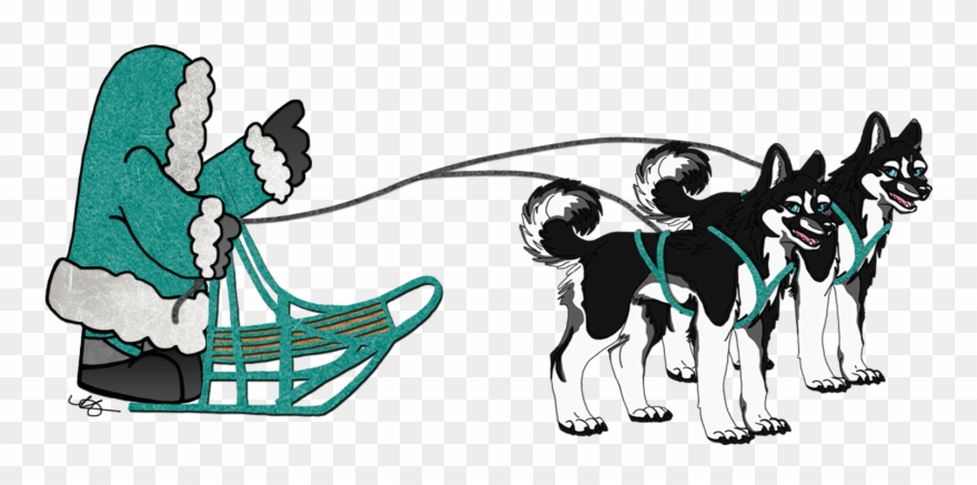 Iditarod clipart clip art free library Sled Dogs Team Clipart - Clip Art Iditarod Gifs - Png Download ... clip art free library