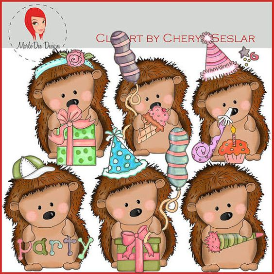 Igel im garten clipart free library NEW Pepper the Hedgehog Birthday Wishes Clipart by by ... free library