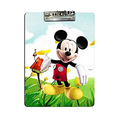 Igl clipart bill view png black and white download Giftix Personalized Mickey Mouse Print Exam Clipboard for Kids ... png black and white download