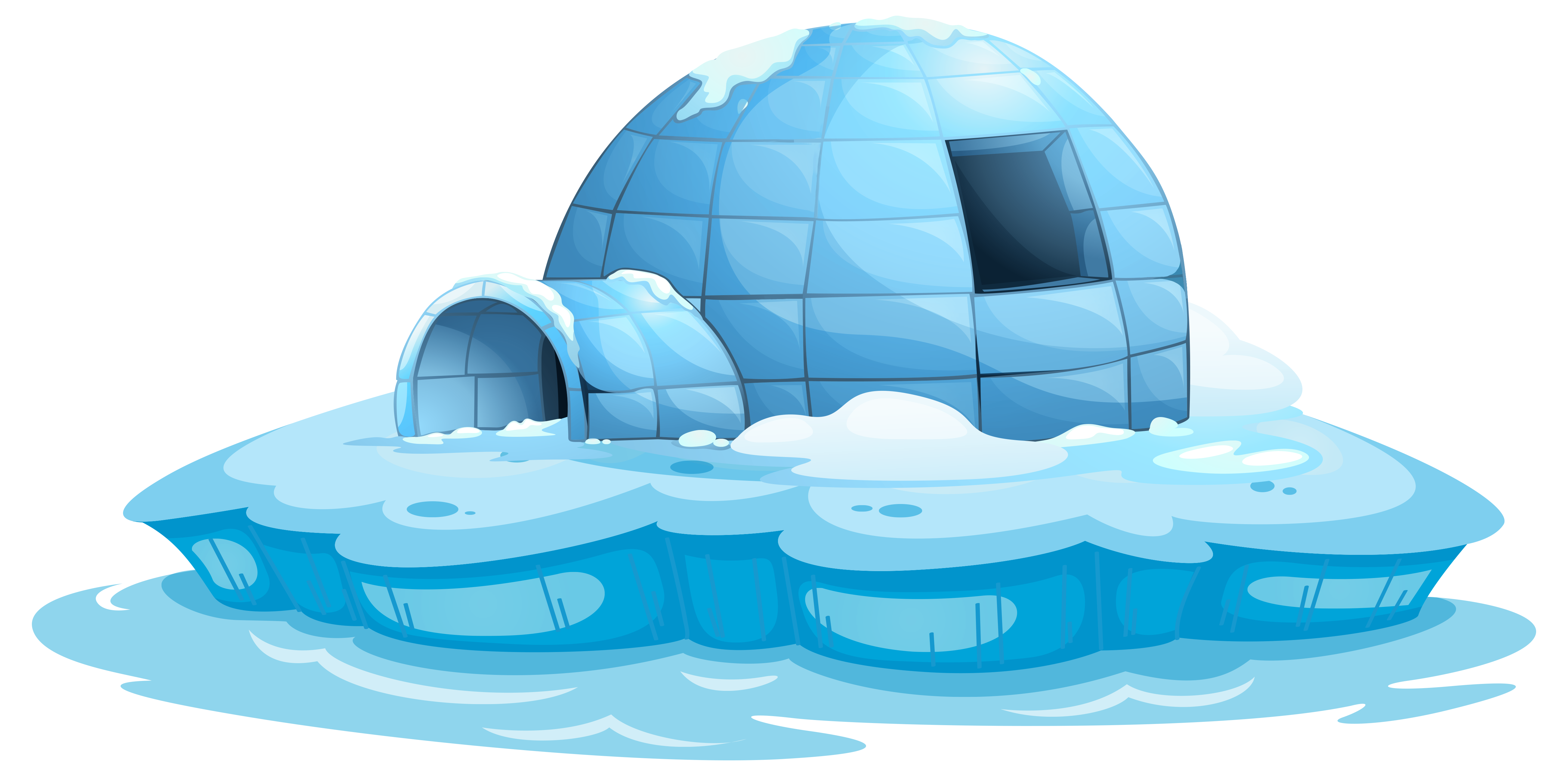 Igloo Icehouse Transparent PNG Clip Art Image | Gallery ... clip art library library