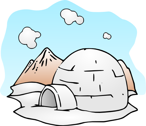 Igloo Clip Art at Clker.com - vector clip art online, royalty free ... clip black and white library