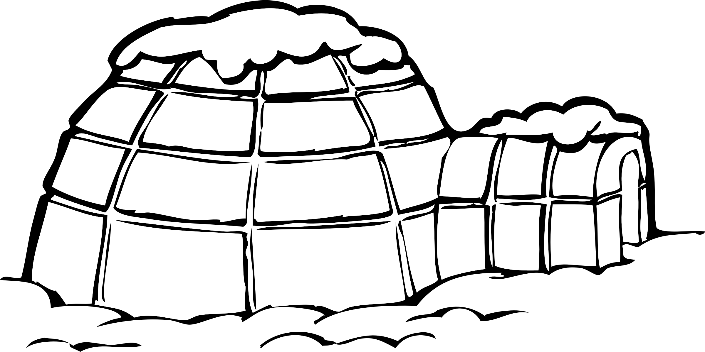 Clipart - igloo svg freeuse library