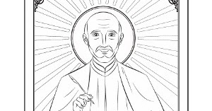 Ignatius of loyola clipart graphic library library Catholic Faith Education: Coloring page: Saint Ignatius of Loyola graphic library library