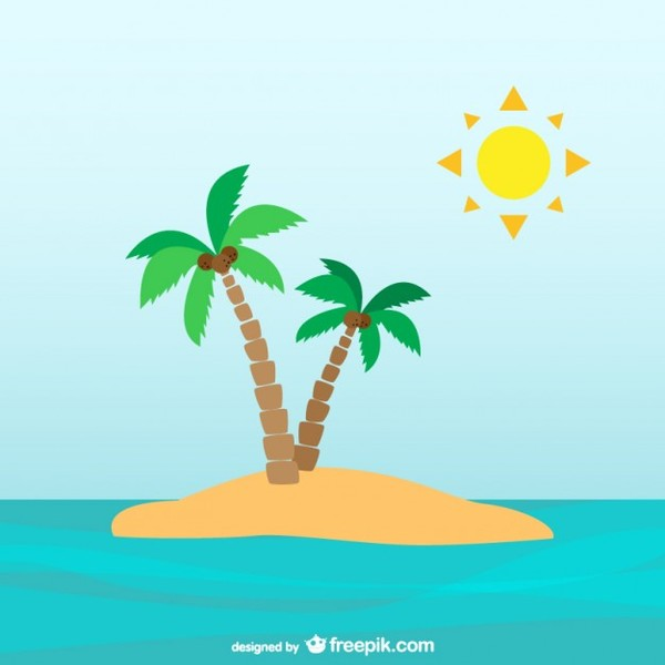 Iland clipart royalty free Clipart desert island palm tree clip art library - ClipartPost royalty free