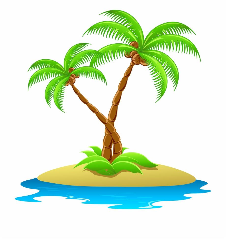 Iland clipart svg library download Island With Palm Trees Transparent - Island Clipart Free PNG Images ... svg library download
