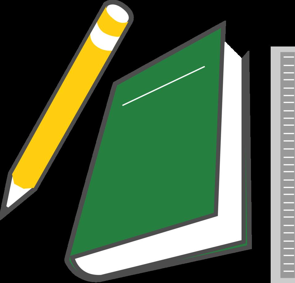 Illustrations in a book clipart png transparent download Public Domain Clip Art Image | Illustration of a book and pencil ... png transparent download